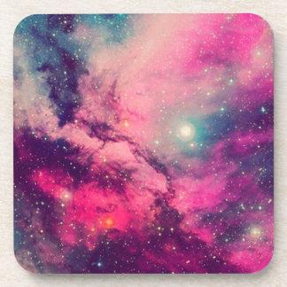 Purple Afterglow Galaxy Coaster