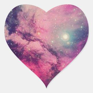 Purple Afterglow Galaxy Heart Sticker