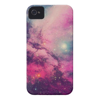 Purple Afterglow Galaxy iPhone 4 Case
