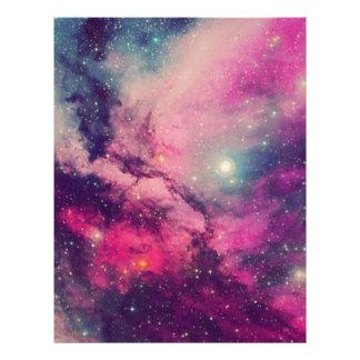 Purple Afterglow Galaxy Letterhead
