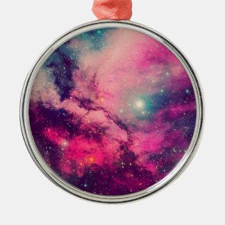 Purple Afterglow Galaxy Metal Ornament