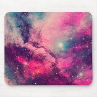 Purple Afterglow Galaxy Mouse Pad
