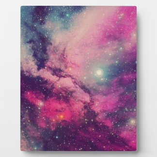 Purple Afterglow Galaxy Plaque