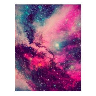 Purple Afterglow Galaxy Postcard