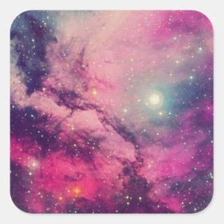 Purple Afterglow Galaxy Square Sticker