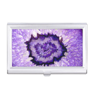 Purple agate business card holder