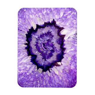 Purple agate magnet