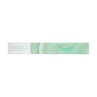 Purple Agate Watercolor | Wrap Address Label Wraparound Address Label