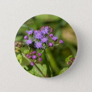 Purple Ageratum Wildflowers 2 Inch Round Button