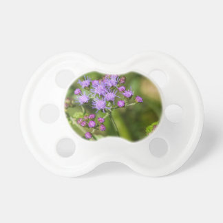 Purple Ageratum Wildflowers Baby Pacifier