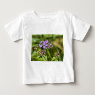 Purple Ageratum Wildflowers Baby T-Shirt
