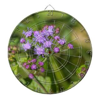 Purple Ageratum Wildflowers Dartboard