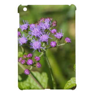 Purple Ageratum Wildflowers iPad Mini Cover