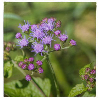 Purple Ageratum Wildflowers Napkin