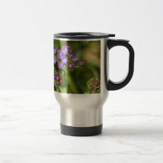 Purple Ageratum Wildflowers Travel Mug