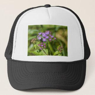 Purple Ageratum Wildflowers Trucker Hat