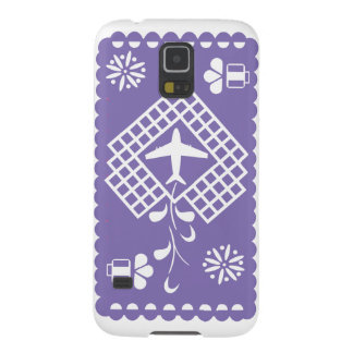Purple airplane traveling festival phone case