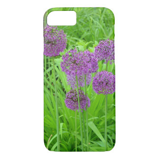 Purple allium flowers iphone wallet case