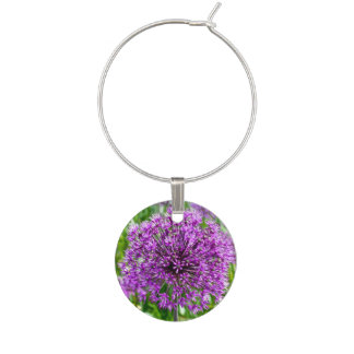 Purple Allium, Wine Charm