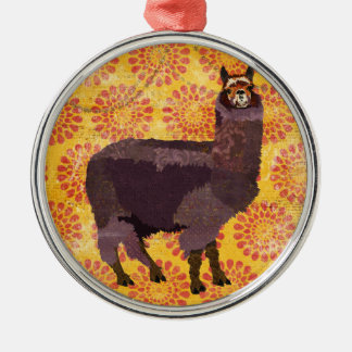Purple Alpaca Ornament
