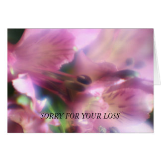 Purple Alstroemeria  SORRY FOR YOUR LOSS Card Cards