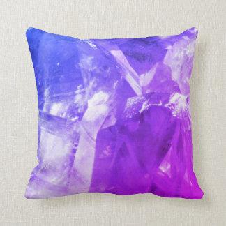 Purple Amethyst Crystals design cushion