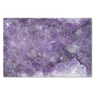 Purple Amethyst Healing Crystal Gem Geode Tissue Paper
