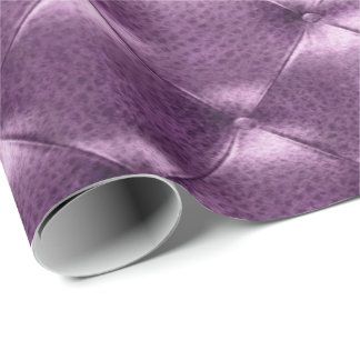 Purple Amethyst  Luxury Opulent Tufted Leather VIP Wrapping Paper