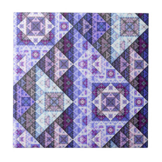 Purple Amethyst Pattern Ceramic Tile