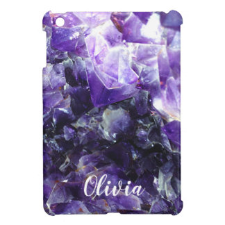 Purple amethyst Personalized Name Case For The iPad Mini