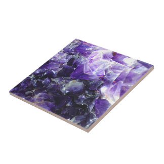 Purple amethyst tile