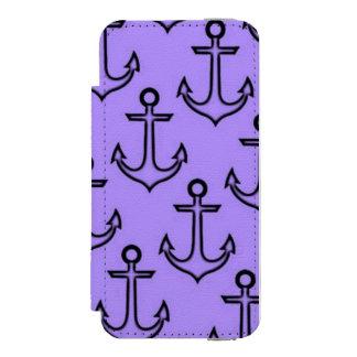 Purple Anchor iPhone SE5/5s Incipio Wallet Case Incipio Watson™ iPhone 5 Wallet Case