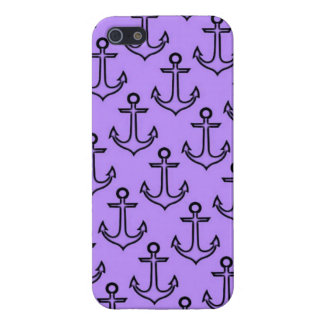Purple Anchor iPhone SE/5/5S Glossy Finish Case iPhone 5/5S Cover