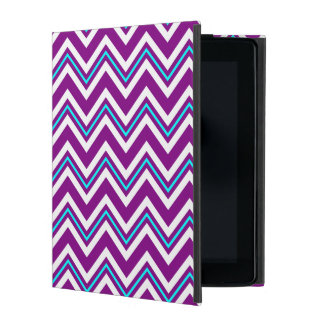 Purple and Aqua Chevron iPad Case