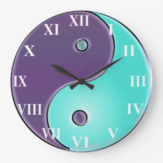Purple and Aqua  Yin-Yang Clock