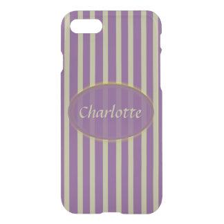 Purple and Beige Stripes - Classic Design iPhone 8/7 Case