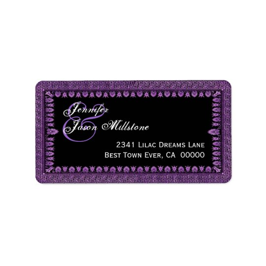 Purple and Black Art Deco Border Wedding