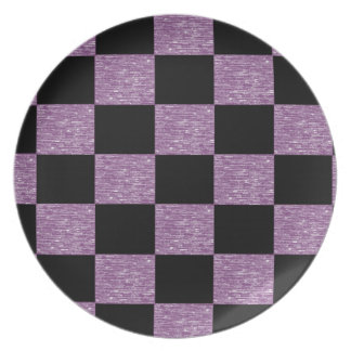 Purple and Black Checkered Plate