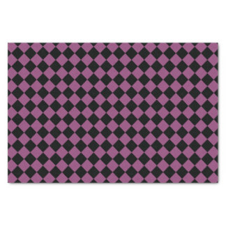 Purple and Black Checkered Print Tissue Paper