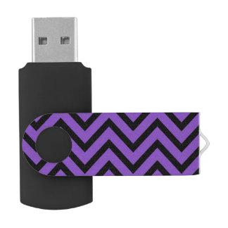 Purple and Black Chevron Flash Drive