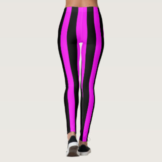 Purple and Black Coloured striped pattern Leggings