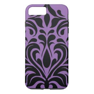 Purple And Black Damask iPhone 8 Plus/7 Plus Case