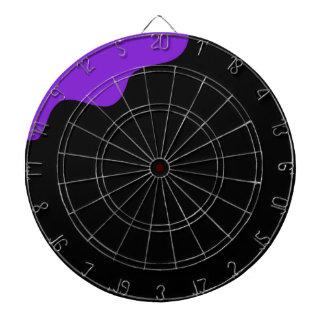 Purple and black dartboard