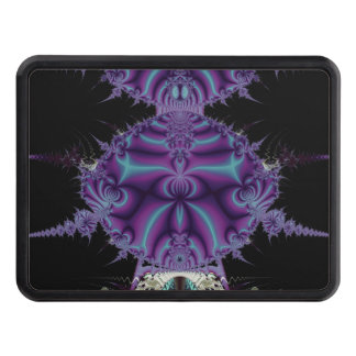 Purple and Black Fractal Art Trailer Hitch Cover