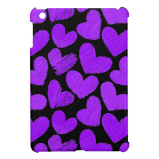 Purple and black hearts iPad Mini Case