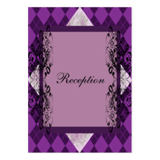 Purple and Black Lace Wedding Business Card