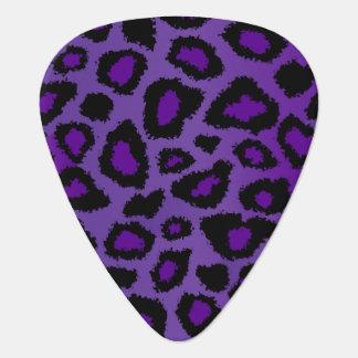 Purple And Black Leopard Pattern Guitar Pick