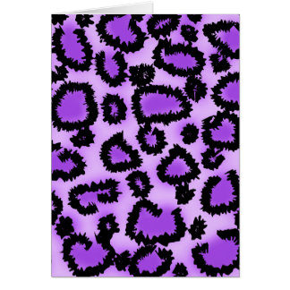 Purple and Black Leopard Print Pattern. Card