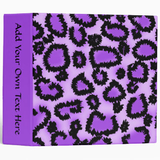 Purple and Black Leopard Print Pattern. Vinyl Binders