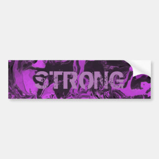 Purple and black Marble. Bumper Sticker